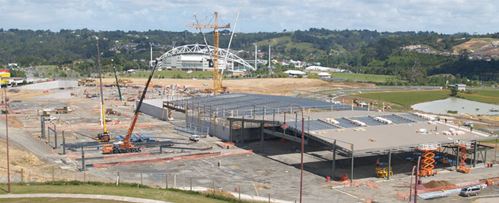 Construction site in Albany, Auckland
